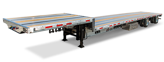 Benson aluminium drop deck trailer