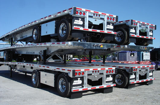 Our inventory of drop-deck trailers