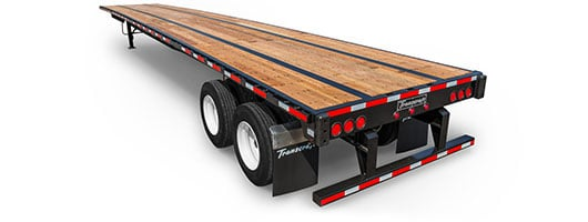 Transcraft steel flatbed trailer