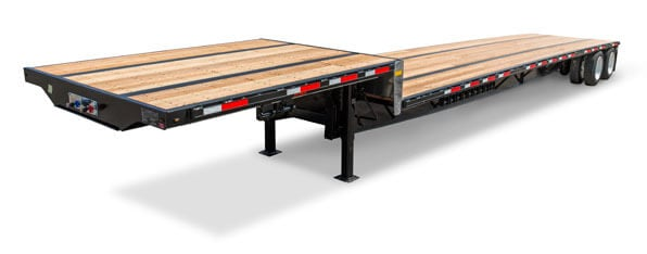 Transcraft steel drop deck trailer